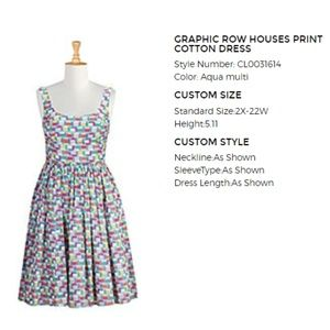 House Print Fit & Flare Dress
